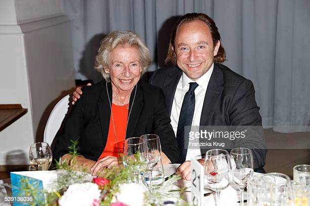 Angelika Jahr an her son Alexander Stilcken attend the 'Das Herz im Zentrum' Charity Gala on June 9 2016 in Hamburg Germany