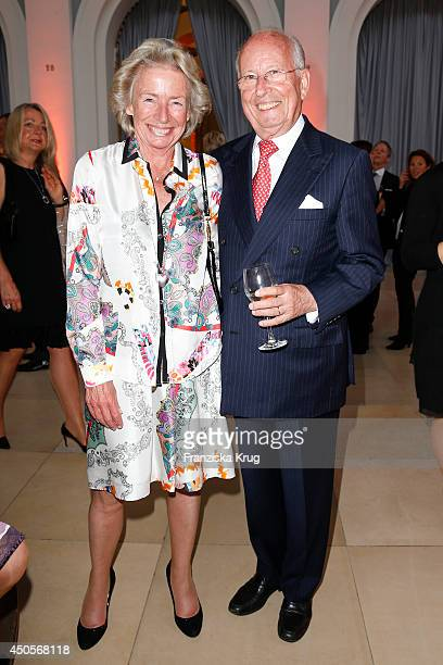 Angelika JahrStilcken and Bernhard Servatius attend the 'Das Herz im Zentrum' Charity Gala on June 13 2014 in Hamburg Germany