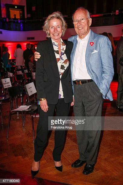 Angelika JahrStilcken and Bernhard Servatius attends the 'Das Herz im Zentrum' Charity Gala on June 14 2015 in Hamburg Germany