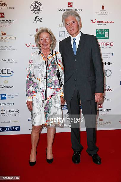 Angelika JahrStilcken and Klaus Unger attend the 'Das Herz im Zentrum' Charity Gala on June 13 2014 in Hamburg Germany