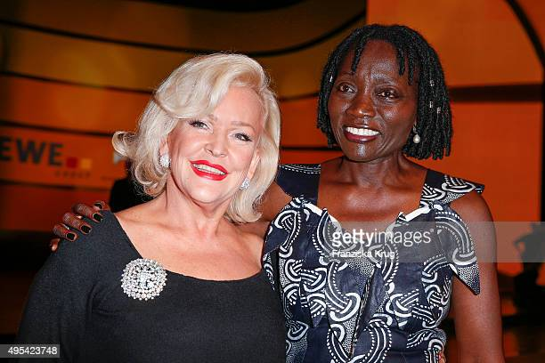 Angelika Milster and Auma Obama attend the 1st Act Now Jugend Award on November 02 2015 in Berlin Germany