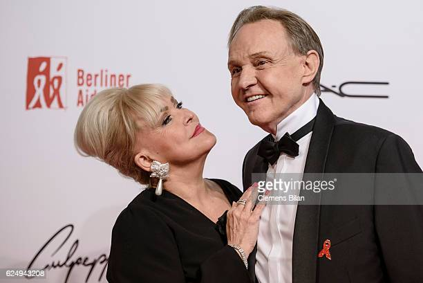 Angelika Milster and Georg Preusse aka Mary attend the Artists Against Aids Gala at Stage Theater des Westens on November 16 2016 in Berlin Germany
