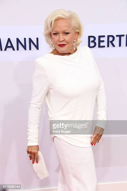Angelika Milster attends the Bertelsmann Summer Party 2015 at the Bertelsmann representative office on June 18 2015 in Berlin Germany