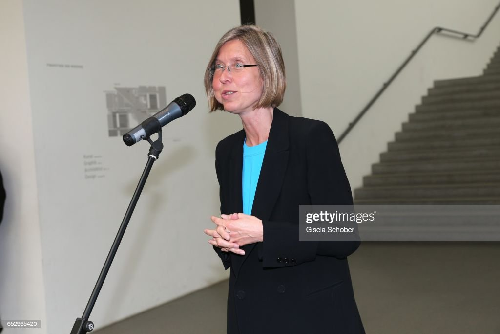 Angelika Nollert during the Gentlemen Art Lunch at Pinakothek der Moderne on March 13, 2017 in Munich, Germany.
