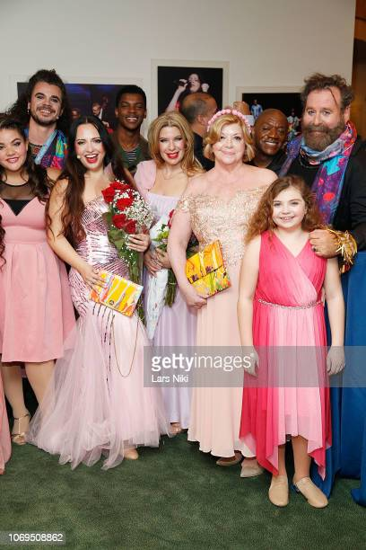 Angelika Sandora Sophia Dama Faith Hope Consolo Kostis Savvidakis and cast wearing a DZZone clutch and handbag and original silk scarf attend FauxBia...