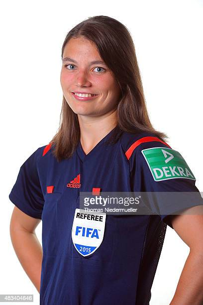 Angelika Soeder poses during a portrait session at the Annual Women's Referee Course on August 8 2015 in Altensteig Germany