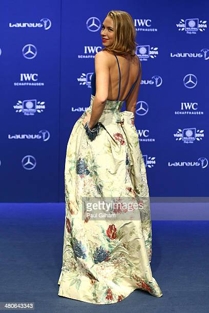 Angelika Timanina attends the 2014 Laureus World Sports Awards at the Istana Budaya Theatre on March 26 2014 in Kuala Lumpur Malaysia