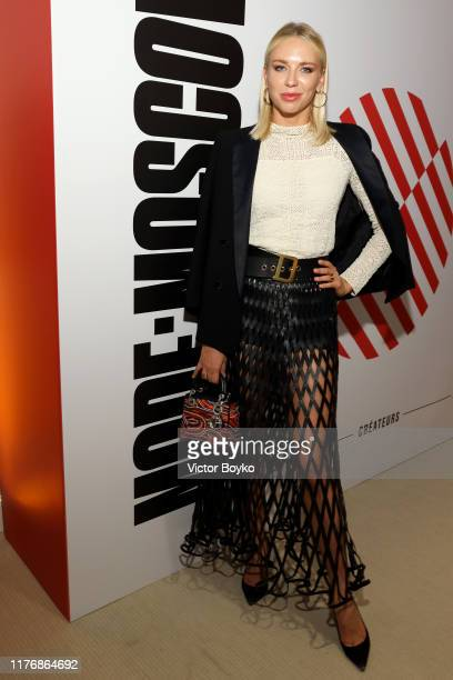 Angelika Timanina attends the ModeMoscow showroom and cocktail event as part of Paris Fashion Week on September 24 2019 in Paris France