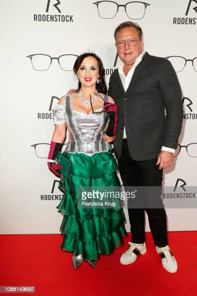 Angelika Zwerenz and Oliver Kastalio during the Rodenstock Eyewear Show 'A New Vision of Style' at Isarforum on January 24 2019 in Munich Germany