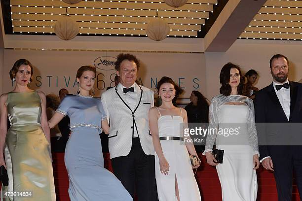 Angeliki Papoulia Lea Seydoux John C Reilly Jessica Barden Rachel Weisz and Yorgos Lanthimos leave the 'Lobster' Premiere during the 68th annual...