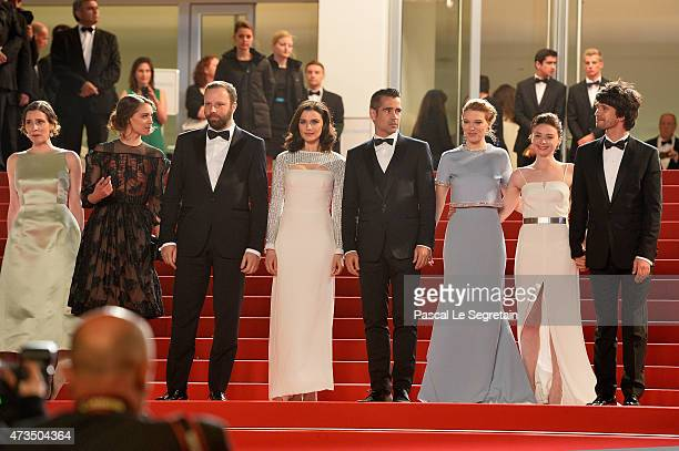 Angeliki PapouliaAriane LabedYorgos LanthimosRachel WeiszColin FarrellLea SeydouxJessica Barden and Ben Whishaw attend the Premiere of 'The Lobster'...