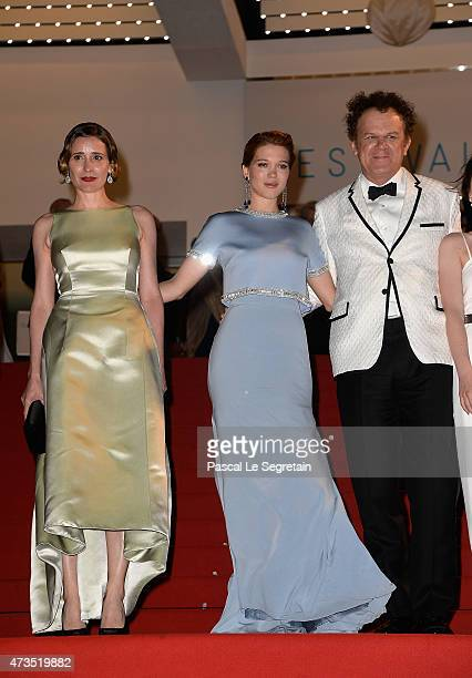 Angeliki PapouliaLea Seydoux and John C Reilly attend the Premiere of 'The Lobster' during the 68th annual Cannes Film Festival on May 15 2015 in...