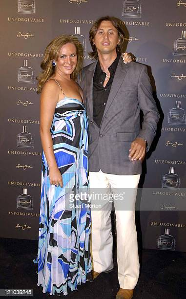 Angelina Anisimova and Jonathan Cheban during 'Unforgivable' Fragrance Dinner Arrivals at RM Elegance Yacht in St Tropez France