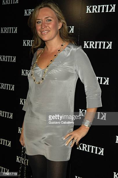 Angelina Anisimova poses at the KRITIK clothing launch at Casa Casaurina on December 30 2006 in Miami Beach Florida