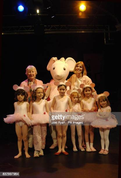 Angelina Ballerina author Katharine Holabird and illustrator Helen Craig with some small fans ahead of a children's afternoon tea party to mark the...