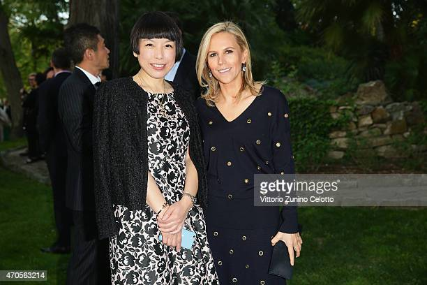 Angelina Cheung Editor in Chief of Vogue China and Tory Burch attend the Conde' Nast International Luxury Conference Welcome Reception at Four...
