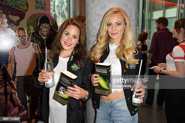 Angelina Heger and german actress Syra Feiser attend the Suicide Squad Live Event at CineStar on August 3 2016 in Berlin Germany