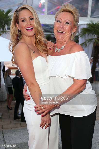 Angelina Heger and her mother Manuela Heger during the Raffaello Summer Day 2015 to celebrate the 25th anniversary of Raffaello on June 20, 2015 in...
