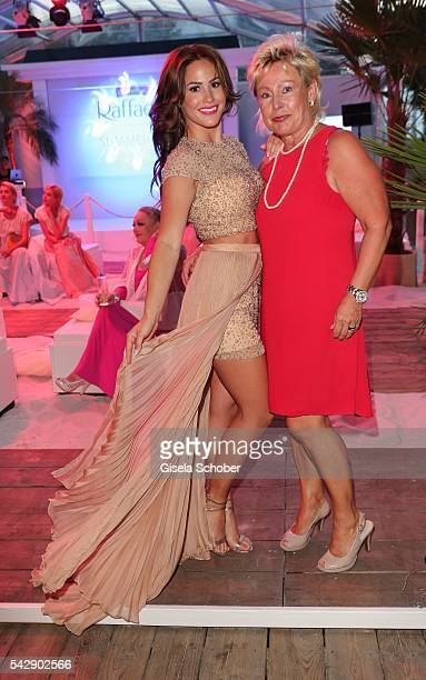 Angelina Heger and her mother Manuela Heger during the Raffaello Summer Day 2016 to celebrate the 26th anniversary of Raffaello on June 24, 2016 in...