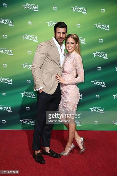 Angelina Heger and Leonard Freier attend 'Tarzan' Musical Premiere on November 6 2016 in Oberhausen Germany