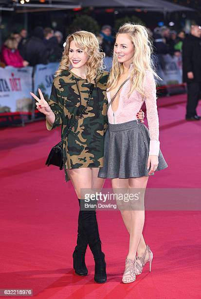 Angelina Heger and Syra Feiser arrive at the premiere of Netflix's Santa Clarita Diet at CineStar on January 20 2017 in Berlin Germany