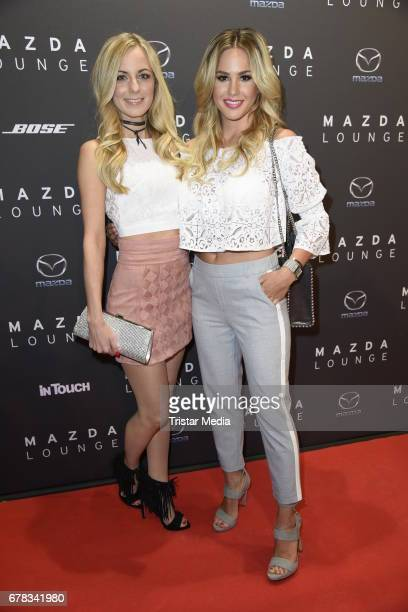 Angelina Heger and Syra Feiser attend the spring cocktail hosted by Mazda and InTouch magazine at Mazda Lounge on May 3 2017 in Berlin Germany
