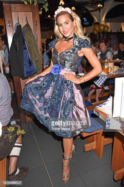 Angelina Heger during the Angermaier TrachtenNacht at Hofbraeuhaus on August 30 2018 in Berlin Germany