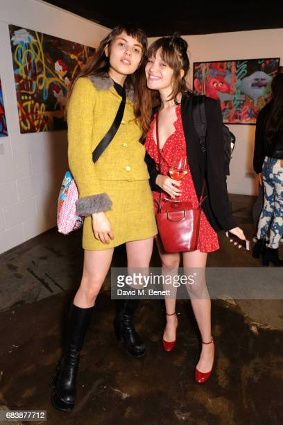 Angelina Jesson and Barbara Maldonado attend Robyn Ward's opening exhibition of A Simpler Time on May 16, 2017 in London, England.