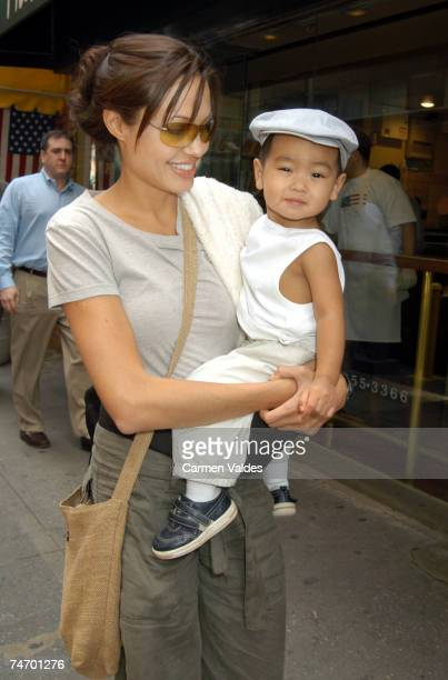 Angelina Jolie and Baby Maddox in New York City New York