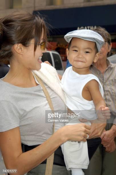 Angelina Jolie and Baby Maddox in New York City New York