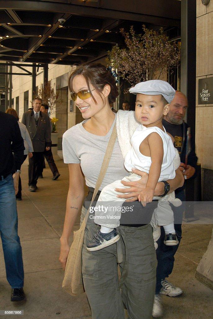 Angelina Jolie And Baby Maddox