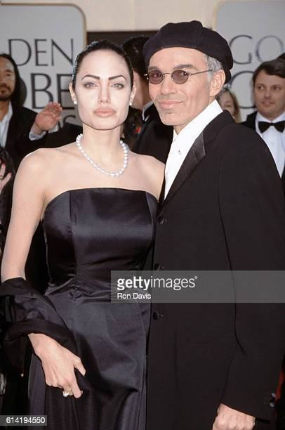 Angelina Jolie and Billy Bob Thornton arrive at the Golden Globe Awards at the Beverly Hilton on January 20 2002 in Beverly Hills California