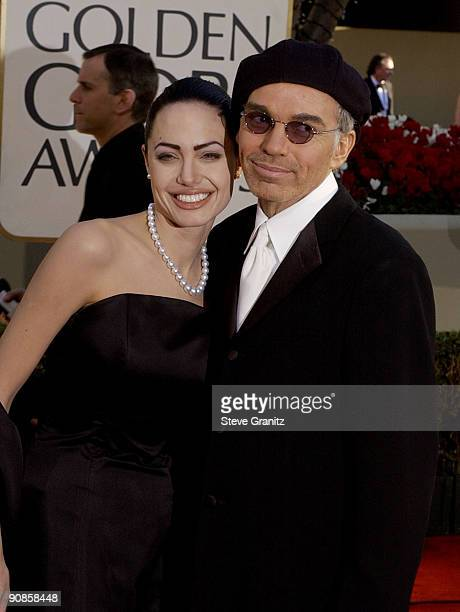 Angelina Jolie and Billy Bob Thornton arrive at the Golden Globe Awards at the Beverly Hilton January 20 2002 in Beverly Hills California