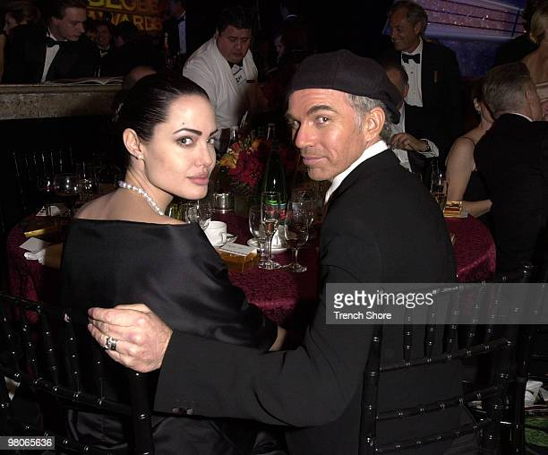 Angelina Jolie and Billy Bob Thornton at the Golden Globe Awards at the Beverly Hilton January 20 2002 in Beverly Hills California