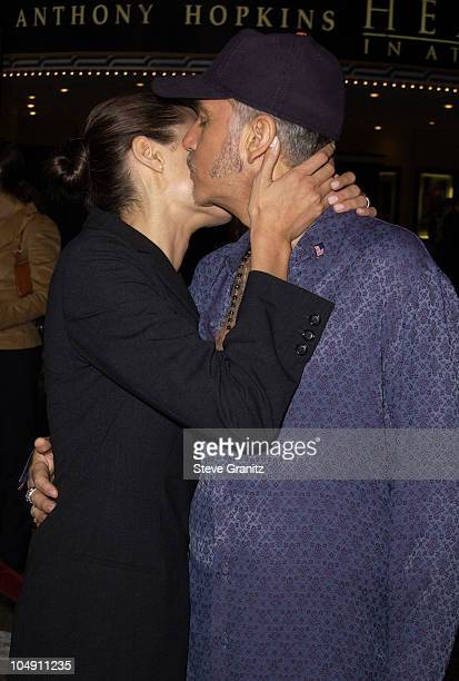 Angelina Jolie and Billy Bob Thornton during Bandits Los Angeles Premiere at Mann Village Theatre in Westwood California United States