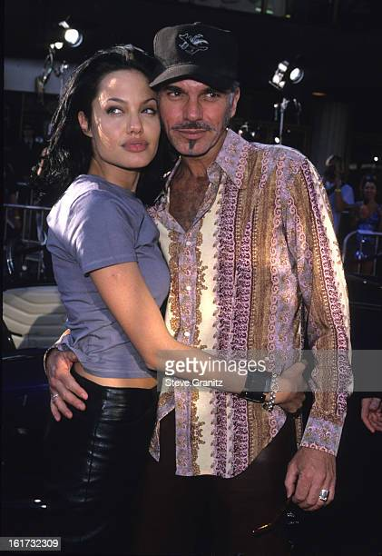 Angelina Jolie and Billy Bob Thornton during 'Gone in 60 Seconds' Los Angeles Premiere at National Theater in Westwood California United States