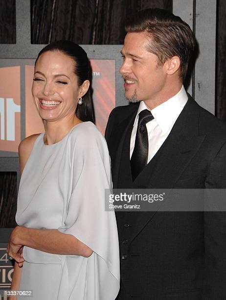 Angelina Jolie and Brad Pitt arrives at the 14th Annual Critics' Choice Awards at the Santa Monica Civic Center on January 8 2009 in Santa Monica...