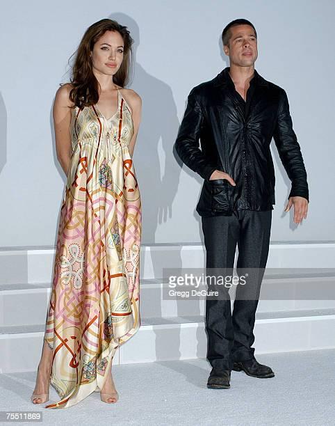 Angelina Jolie and Brad Pitt at the Pairs Hotel in Las Vegas Nevada