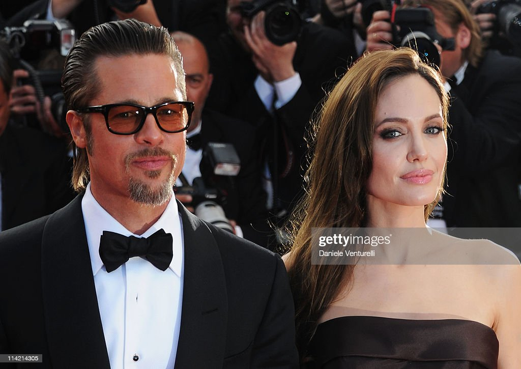 Angelina Jolie and Brad Pitt attend 'The Tree Of Life' Premiere during the 64th Annual Cannes Film Festival at Palais des Festivals on May 16, 2011 in Cannes, France.