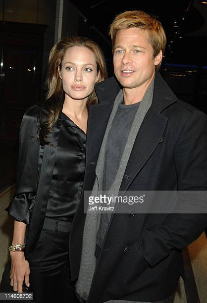 Angelina Jolie and Brad Pitt during 'God Grew Tired of Us' Los Angeles Premiere Red Carpet and Inside at Pacific Design Center in Los Angeles...