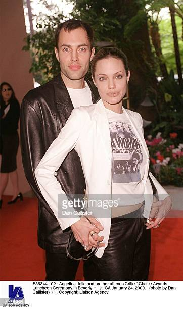 Angelina Jolie and brother attends Critics'' Choice Awards Luncheon Ceremony in Beverly Hills CA January 24 2000