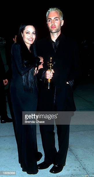 Angelina Jolie and her brother James Haven attend the Vanity Fair PostOscar Party at Morton's March 26 2000 in West Hollywood Ca