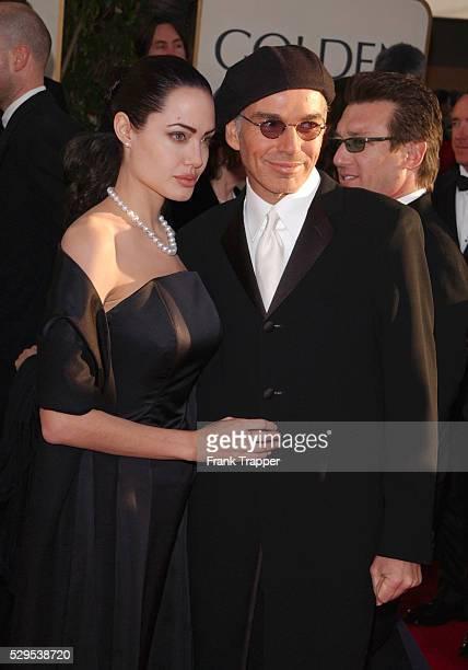 Angelina Jolie and husband Billy Bob Thornton arrive at the 2001 Golden Globe awards