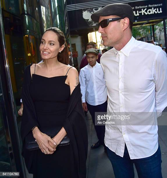 Angelina Jolie and James Haven are seen in Midtown on June 18 2016 in New York City