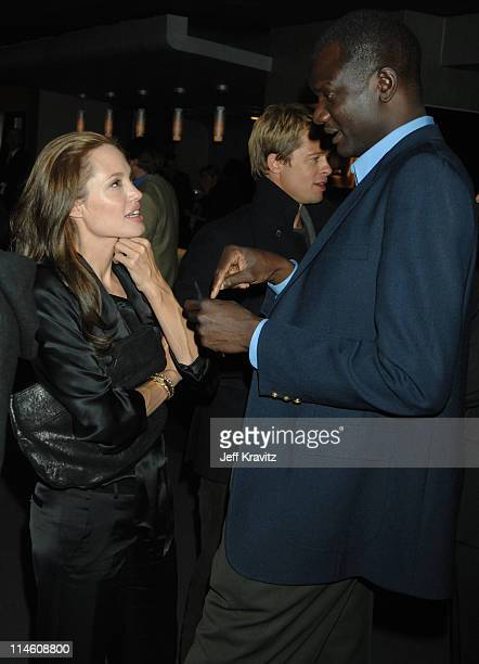 Angelina Jolie and John Bul Dau during 'God Grew Tired of Us' Los Angeles Premiere After Party at Pacific Design Center in Los Angeles California...