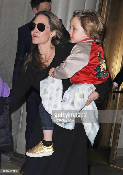 Angelina Jolie and Knox Leon as seen on April 5 2013 in New York City
