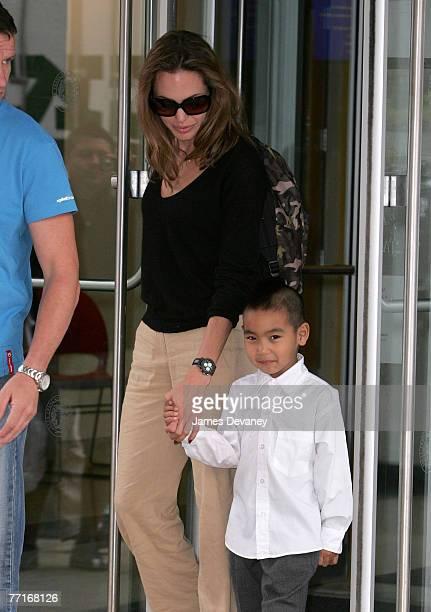Angelina Jolie and Maddox JoliePitt sighting in New York City on October 2 2007