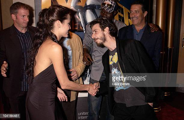 Angelina Jolie And Noah Taylor 'Lara Croft Tomb Raider 2 The Cradle Of Life' Movie Premiere At The Empire Leicester Square London
