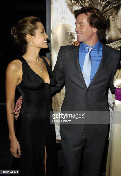 """Angelina Jolie and Val Kilmer during """"Alexander"""" Los Angeles Premiere - Arrivals at Grauman's Chinese Theatre in Hollywood, California, United States."""