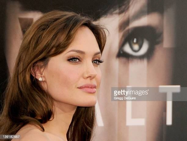 Angelina Jolie arrives at the Los Angeles Premiere of Salt at the Grauman's Chinese Theatre on July 19 2010 in Hollywood California